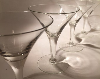 Vintage Martini Glasses - Set of 4