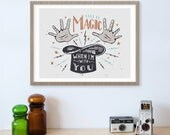ColdPlay Lyrics, Song Lyrics Wall Art, Call It Magic, Magic Hat, Anniversary Gift, Art Print, Song Lyric Art, Song Lyric Print