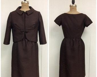 SALE 1950s 1960s Hattie Carnegie Dress Jacket Set 50s 60s