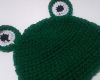 Custom Personalized Green Frog Baby Hat/Photography/Nursing/Photoprop/Costume