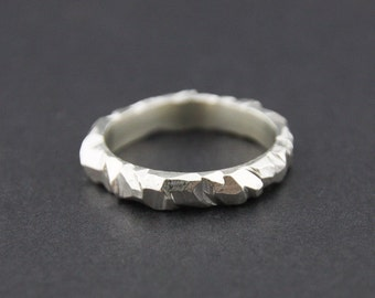 Mini Facet Ring: Sterling Silver