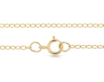Finished Chains with spring ring clasp Gold Filled 2x1.6mm 24 Inch Cable Chain - 1pc (2797)/1