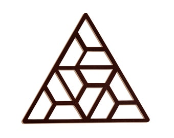 Hexa-Triangle Wall Art - Brown Wood Home Decor