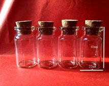 10pcs 40x20mm Clear Glass  Wishing Bottle  Pendants With Corks Free EyeHooK