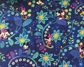 Mouse fabric Vera Bradley  9 X 18 or 18 X 18 inches