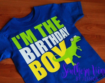 I'm The Birthday Boy Dinosaur SVG File For Cutting Machine File ONLY