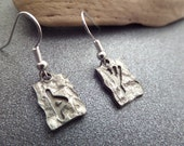 Viking Rune Earrings, Good Luck Charms in Silver tone Metal, Norse Jewelry
