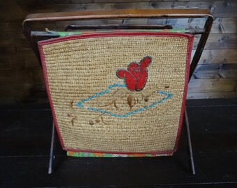 Vintage English Knitting Sewing Craft Needlecraft Craft Baskets circa 1950-60's / English Shop
