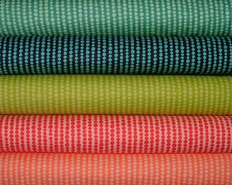 Fat Quarter Bundle of 5 of Tucker Prairie Bubbles by One Canoe Two for Moda
