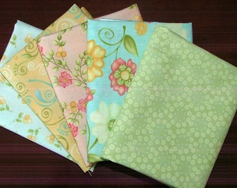 LAST ONE Fat Quarter Bundle of Butterfields by Margot Languedoc for Henry Glass