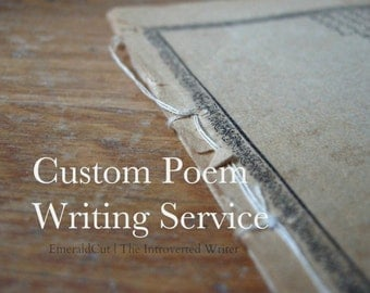 Custom Poem Up to 9 Lines - Writing Service / Quality Unique Witty Poetry Personalized Writing for Birthday Anniversary Proposal Wedding