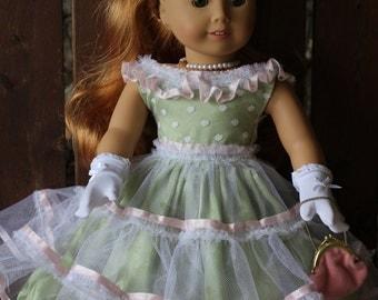Maryellen's 1950's Easter dress for 18in American girl dolls
