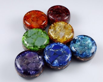 Orgonite Chakra Set ... Orgone Positive Energy Generators. Arkansas Crystals, Moldavite, Phenacite .... Gemstones (see list in description)