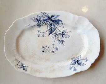 Antique Dogwood blossom porcelain platter