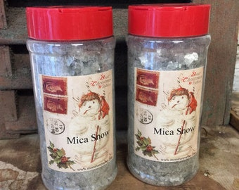 Vintage Mica Snow 8oz - Holiday - Christmas - Craft Supply - Faux Snow - Snow - Suppy