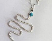 Snake necklace. Snake Pendant