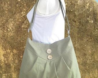 Holiday On Sale 10% off Olive green cross body bag / messenger bag / shoulder bag / diaper bag  - cotton canvas