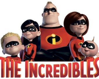 The Great Incredibles Iron on Transfer for T-Shirt / Cotton Fabric D2