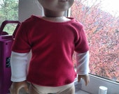 18 inch doll clothes, Fits American Girl, Layered t-shirt
