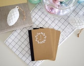 Personalised Stocking Filler - Hand Illustrated Monogram Notebook