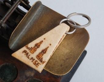 Bintage Genuine wild deer horn with hole, key ring, key fob Lahemaa Palmse