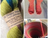 Cashmere Blend Custom Socks : Jill Draper Makes Stuff Splendor Sock Yarn Lake Myvatn Colorway Wool Socks - Custom Size made out of MCN