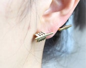 Arrow Ear Cuff earring / choose your color, gold, silver