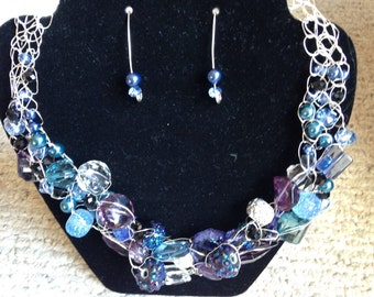 Blue Nile wire crocheted necklace