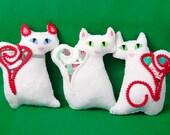 Cupcake Christmas Kitten Plush Holiday Softie