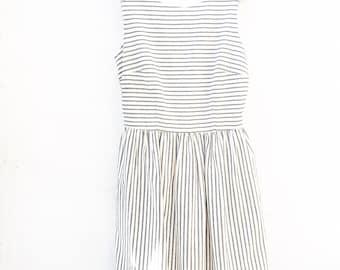 Dress, cotton dress, summer dress, sun dress, stripy dress, striped dress, kee boutique , breton dress, pocket dress, indke, ethical, eco.