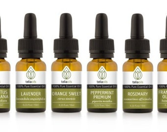 TOP QUALITY Essential Oil Set 6/10 Ml - 100% Pure, Therapeutic Grade, for Aromatherapy Gift Collection