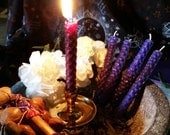Psychic Shield Loaded and Dressed Beeswax Chime Candle for Meditation, Ritual or Spellwork