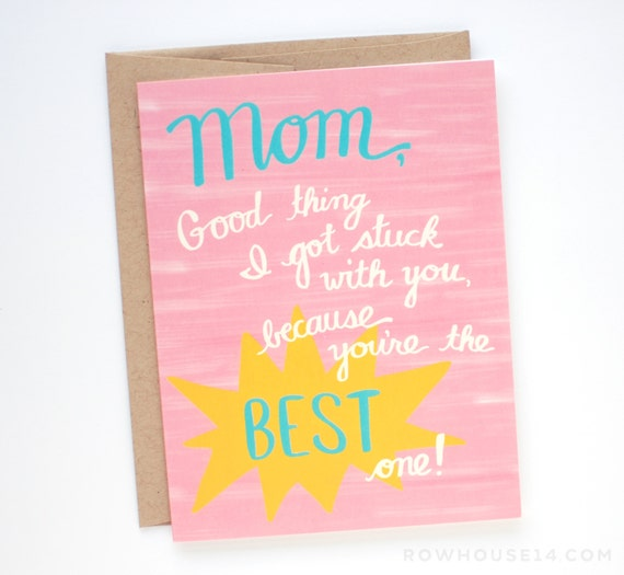 Mothers Day Card - Mother's Day Card - Mom Birthday Card