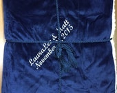 Personalized Faux Lambs Wool And Suede Throw For Weddings and Anniversaries