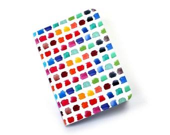 Rainbow Watercolour Palette A6 notebook, Artists Journal