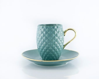 Espresso Cup, Ceramic Cup, Pineapple Cup, Textured Cup, Hot Chocolate Cup and Saucer