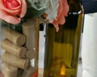 Clear wine bottles for wedding centerpieces