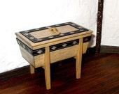 Dough Box, Rustic Dollhouse Miniature 1/12 Scale, Hand Made