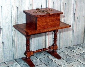 Bible-Box Table, Dollhouse Miniature 1/12 Scale, Hand Made