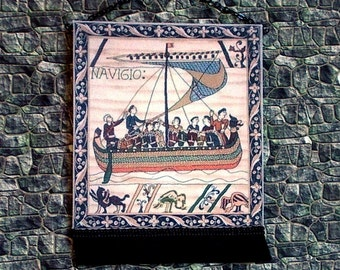 The Navigator Tapestry, Medieval Dollhouse Miniature 1/12 Scale, Hand Made in the USA