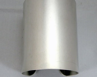 3 inches wide by 6 inches long, one dozen (12)Aluminum Cuff Bracelet Blanks