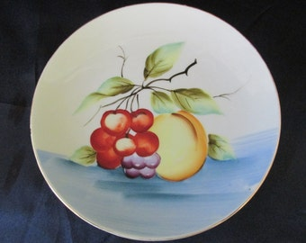 Vintage Betson Hand Painted Fruit Decorative Plate - Japan