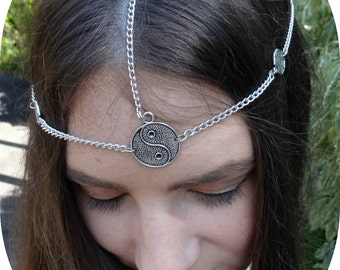 Head Chain Chain Headpiece Hair Jewelry Chain Headpiece Hair Jewelry Headchain Chain Headpiece Boho Gypsy Headpiece Hair Chain - Yin
