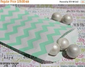 XOXO SALE 200 Mint Green and Coral Polka Dot and Chevron Candy Bags, Coral and Mint Wedding Favor Bags, Popcorn Bags, Favor Bags -100 ea. co