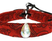 Red Choker Gothic Jewel Necklace Steampunk Vampire Victorian Cosplay Costume