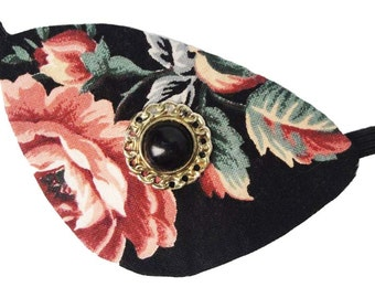 Eye Patch Elegant Rose Floral Victorian Steampunk Gothic Pirate Fashion Cosplay