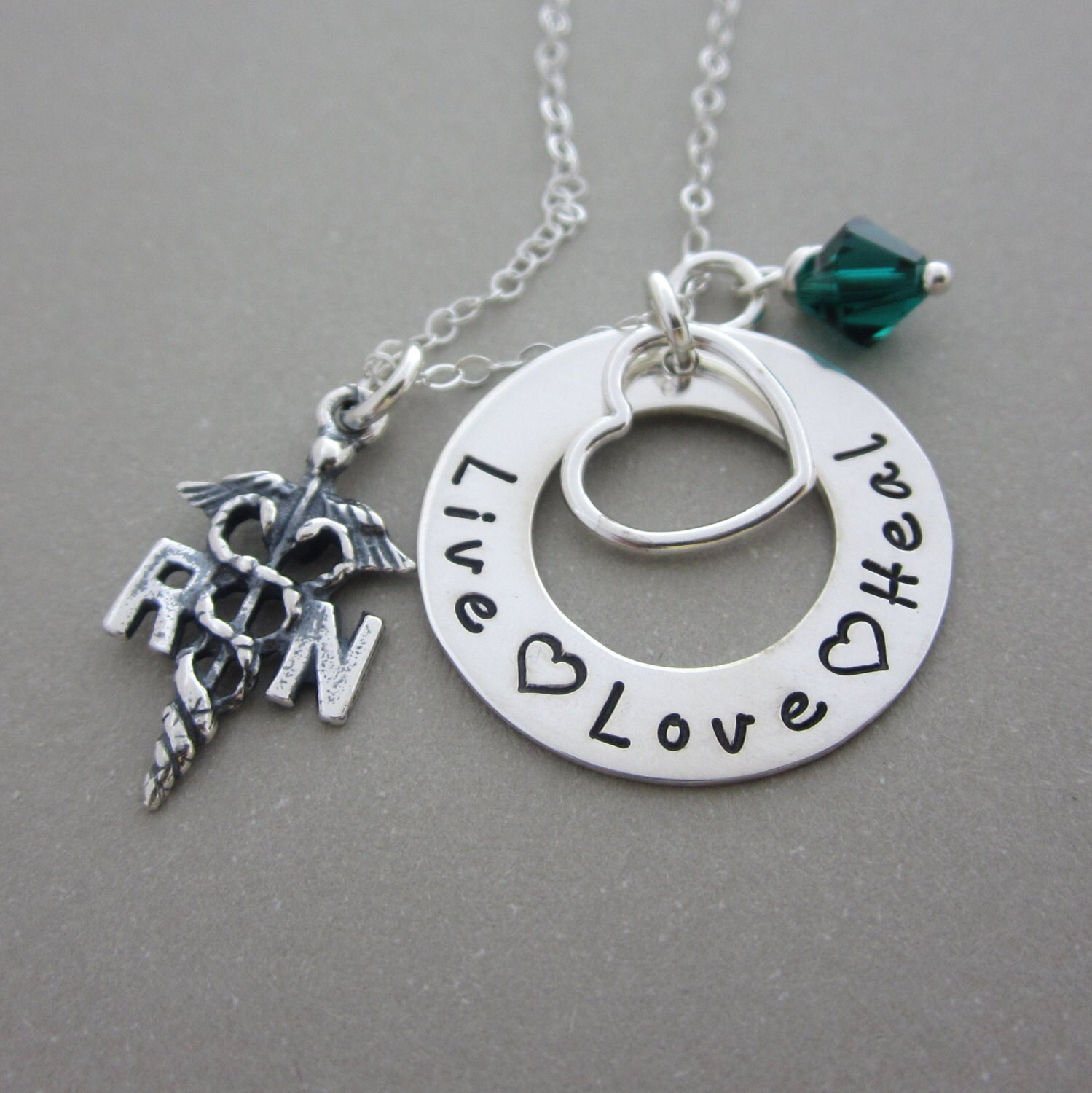 rn lpn necklace registered jewelry by shinymetals