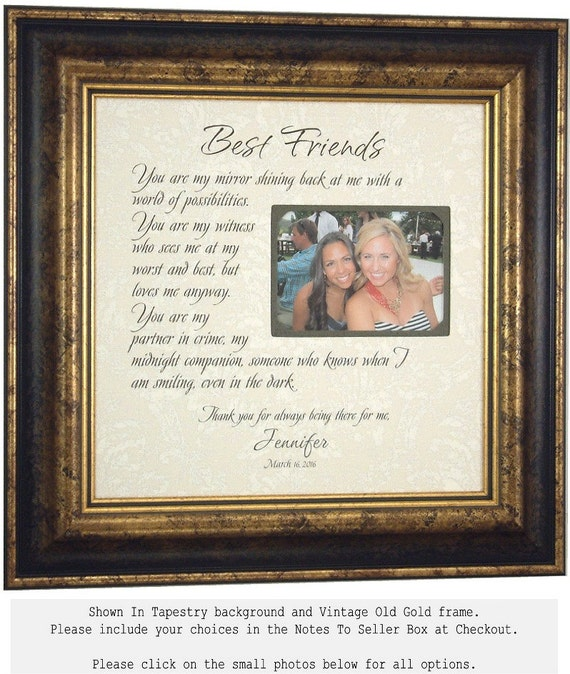 Best Friend Gift, Maid Of Honor Sister gift,, She Is Your Mirror, Personalized Picture Frame, Best Friend Wedding Gift, 16 X 16