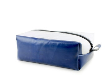 Truck tarpaulin washbag, Unique toiletry bag, Travel Kit, Make Up Bag, Dopp Kit, Recycled dopp kit, Fully lined and unique (6.13)
