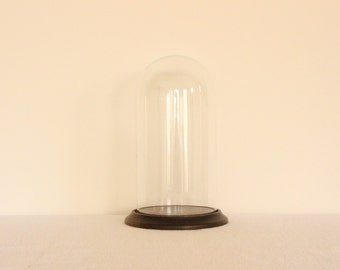 Vintage Large Cloche with Wooden Base